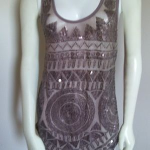 Silence and Noise sequin tank/ tunic dress